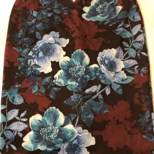 New York & Co. stretchy floral pencil skirt